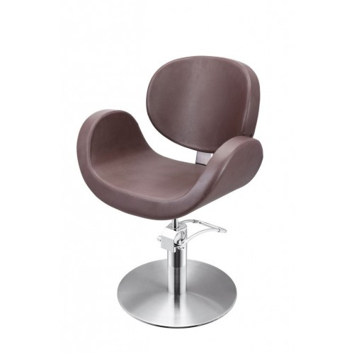 CONSCIENTIA CUTTING CHAIR BROWN WITH ROUND BASE