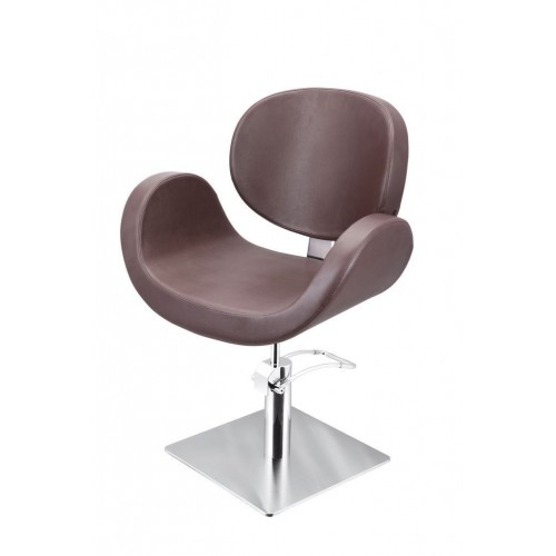 CONSCIENTIA CUTTING CHAIR BROWN WITH SQUARE BASE