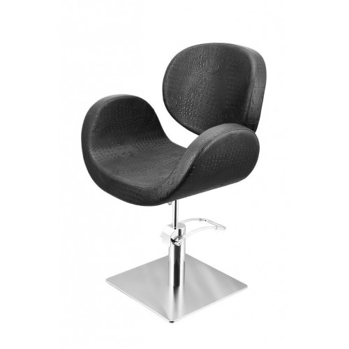 CONSCIENTIA CUTTING CHAIR CROCO BLACK WITH SQUARE BASE