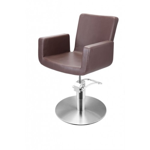 ATTRACTIO CUTTING CHAIR BROWN WITH ROUND BASE