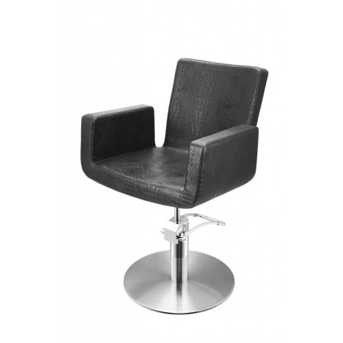 ATTRACTIO CUTTING CHAIR CROCO BLACK WITH ROUND BASE