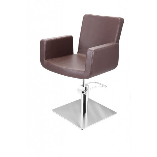 ATTRACTIO CUTTING CHAIR BROWN WITH SQUARE BASE