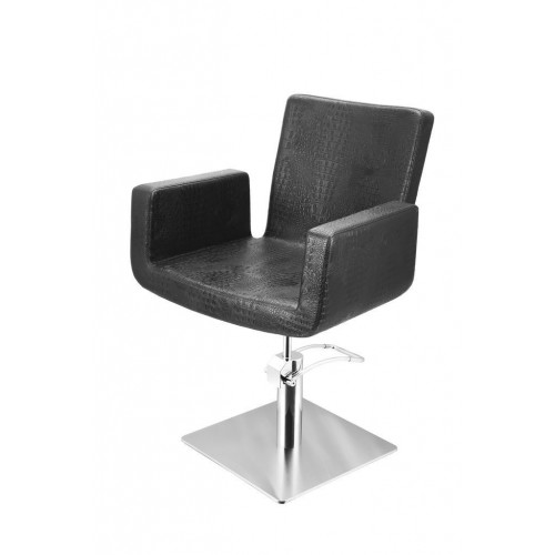 ATTRACTIO CUTTING CHAIR CROCO BLACK WITH SQUARE BASE
