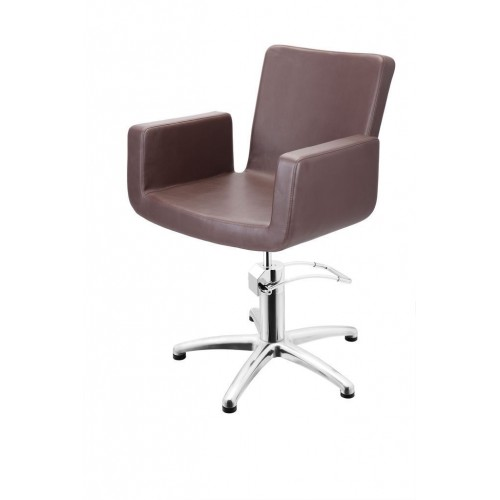 ATTRACTIO CUTTING CHAIR BROWN WITH 5 STAR BASE