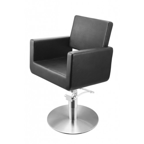 FELICITAS CUTTING CHAIR BLACK WITH ROUND BASE