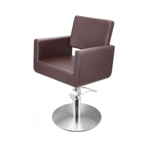 FELICITAS CUTTING CHAIR BROWN WITH ROUND BASE
