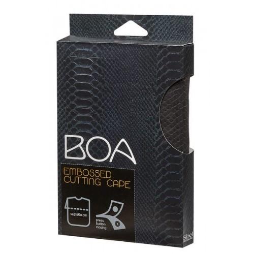 BOA CAPE A/RELIEF EN NOIR AVEC PRESSIONS SIBEL - (249) - 201