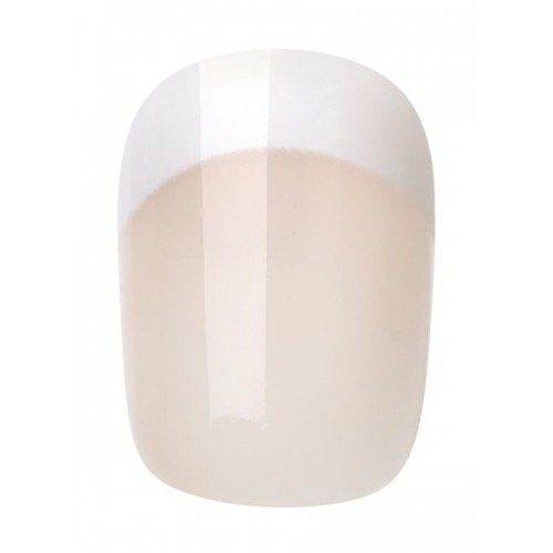 INSTANT FRENCH SHORT ROUND NAIL 24PCS + GLUE - 459 - 2017/20