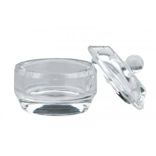 GLASS CUP WITH COVER